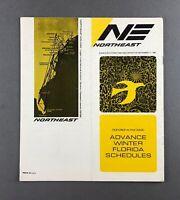NORTHEAST AIRLINE SYSTEM TIMETABLE SEPTEMBER 1967 FLIGHT SCHEDULE YELLOW BIRD