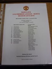 03/10/2015 Manchester United Youth v Liverpool Youth [At Carrington] (Single she