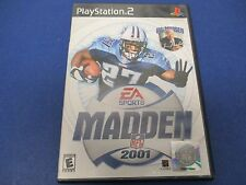 PlayStation 2, Madden 2001, EA Sports, Rated E, NFL Moves, Madden Cards