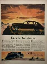 1941 LINCOLN Zephyr V-12 The Observation Car Great ART Vintage PRINT AD