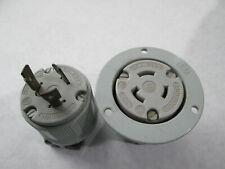 Arrow Hart Nema L6-20 Flanged Receptacle With Matching Plug (20 Amp, 250 Volt)