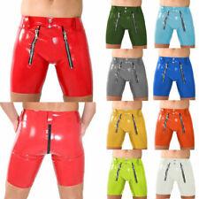 Latex Gummi Herren Sexy Underhose Middle Waist Boxer Cosplay Shorts 0.4mm S-XXL
