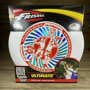 Wham-O Ultimate Frisbee Sports Disc Red/White/Blue 175 gram Brand New In Box