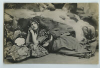 c 1910 Opera Carmen PRETTY GYPSY w/ Tambourine photo postcard