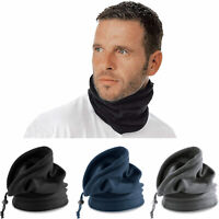 SCALDACOLLO IN PILE UOMO DONNA ANTIVENTO BANDANA MOTO CAPPELLO CON COULISSE