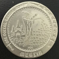"1990 $1 SLOT Gaming TOKEN Excalibur CASINO Las Vegas NV - ""Merlin"""