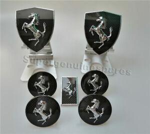 Ferrari 458 Italia Spider California Carbon Fiber Fender Shield Badge&Wheel Caps