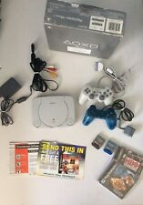Sony PSOne White Console (SCPH-101) In Original Box With 2 Games PS1