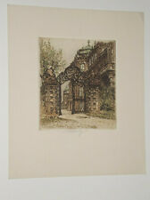 ETCHING OF THE BELVEDERE GATE PENCIL SIGNED