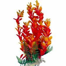 New listing Orange Foliage for Aquarium, Fish Tank Safe Plastic Aquarium Plant 9 Inch Tall