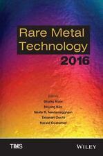 Rare Metal Technology 2016 9781119231073