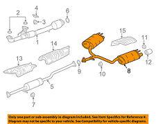 HONDA OEM 14-17 Accord 3.5L-V6-Muffler 18307T2GA11