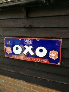 OXO Enamel Sign oxo sign oxo porcelain sign
