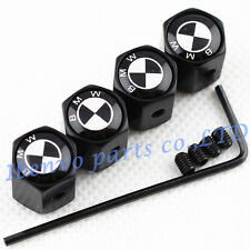 Anti-theft Black Metal Car Wheel Tyre Tire Stem Air Valve Cap For BMW Motors B&W