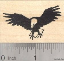 Eagle in Flight Rubber Stamp, American Bald Eagle E18001 WM USA
