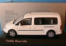 Vw caddy maxi life tdi 2007 white minichamps 1/43 volkswagen weiss bianca white