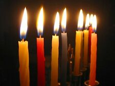 44 Coloured Channukah CANDLES - - - - Menorah Lights Jewish Judaica Hannukah new