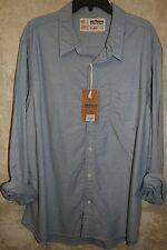NWT urban PIPELINE  long sleeve Woven Oxford shirt Blue XXL 1 Pocket mens shirt