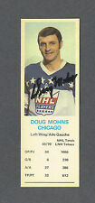 Doug Mohns signed 1970-71 Dads Cookies card