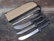 Forsyth boning, skinning, filleting knives, steel, canvas cover, Fantastic set!!