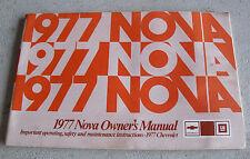 Vintage 1977 Owner's Manual - Chevrolet NOVA