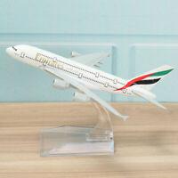 "16CM 6.3"" Metal Plane Model Aircraft A380 Aeroplane Scale Desk Toy Gift Airplane"