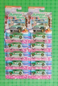 Matchbox - Candy Series - Lot of 10 - Austin Mini Van - Junior Mints