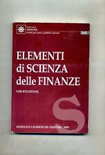 ELEMENTI DI SCIENZA DELLE FINANZE # Edizioni Giuridiche Simone 2001