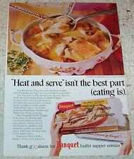 1969 ad page - Banquet frozen Chicken Dumplings supper dinner foods ADVERTISING