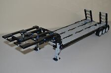 "NEW LEGO TECHNIC BLACK/GRAY CUSTOM FLATBED TRAILER 25""Long /LOWBOY"