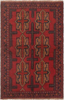 """Hand-knotted Carpet 3'7"""" x 5'9"""" Traditional Vintage Wool Rug...DISCOUNTED!"""