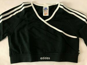 Womens ADIDAS Classic 3 Stripes Lycra Crop-Top Gym/Fitness/Casual/Dance Size 16