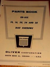 Oliver Parts Book RB-OSX 14, 16, 20 24 and 28 Disc Harrows