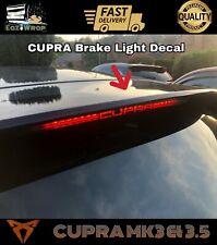 Eaziwrap Seat Leon MK3.5 Cupra BRAKE LIGHT  Vinyl Sticker Decal Overlay BLACK