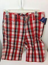 New w/ Tag : JONES NEW YORK Plaid Stretch Shorts Sz 6 - MSRP $54
