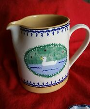 "Nicholas Mosse Pottery Ireland SMALL DUCK JUG 4.3"" 1990s Landscape Pattern"