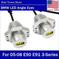 80W E90 E91 6000K White LED Angel Eye Halo Ring Light Bulbs for BMW 05-08 E90