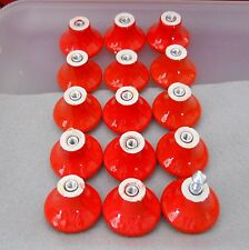 One Dozen small mushroom/bell shape orange mango ceramic knobs