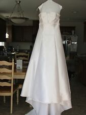 Christian Michele Strapless White Wedding Dress Size 12
