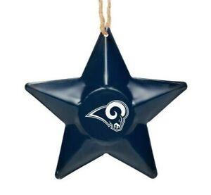 Los Angeles Rams Christmas Tree Holiday Ornament New - Team Logo Metal 3D Star