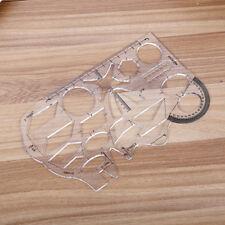 Transparent Plastic Straight Ruler MeasurementScale Tool Student School Suppl/_sh