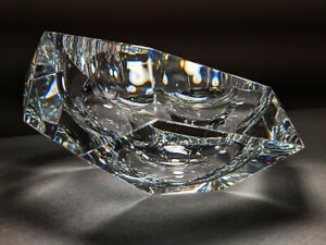 """Baccarat Faceted  Ashtray 7"""" with Canted Profile"""