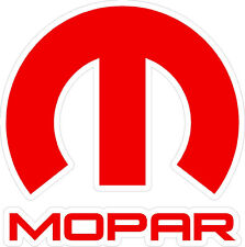 MOPAR sticker decal Large Red Dodge pickup Ram 1500 Ram 2500 Charger Challenger