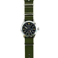 Jack Mason Aviator Chronograph Watch 42mm Stainless/Black/Olive Green