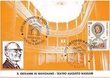 CARTOLINA SAN GIOVANNI IN MARIGNANO ANNULLO INAUGURAZIONE TEATRO MASSARI 1982