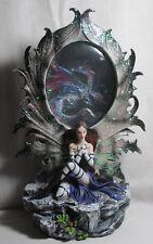 Elfe mit LED Fee magischer Drachen-Spiegel mit wechselnden Farben Mystik Fantasy