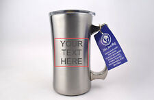 True North Stainless Steel Beer Mug 20oz 01-110 *CUSTOM ENGRAVE YOUR TEXT* NIB