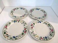 "Set of 4 Farberware English Garden Stoneware Salad Plates71/2""  #225"