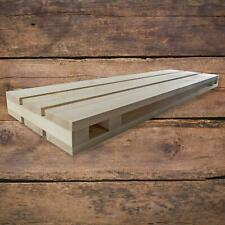 Solid Pine Pallet Shaped Wooden Wall Floating Book Shelf | 80 x 23 x 5 cm