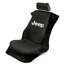 Seat Armour Front Car Seat Cover For Jeep - Black Terry Cloth
